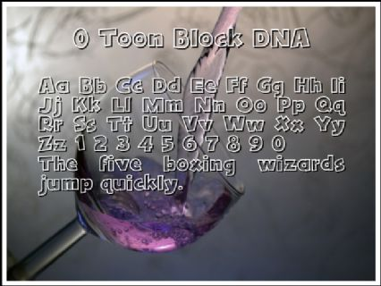 0 Toon Block DNA Font Preview