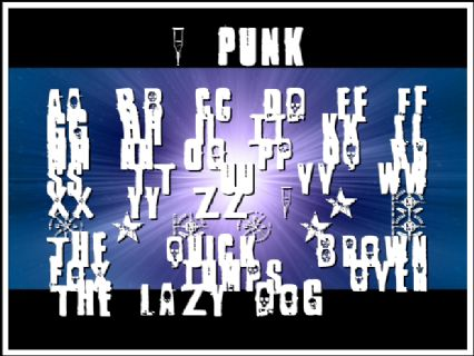 1 Punk Font Preview