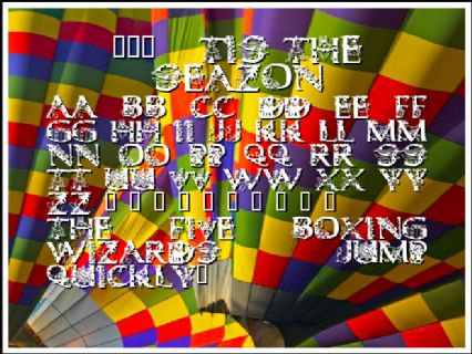 101   Tis the SeaZon Font Preview