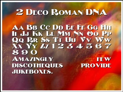 2 Deco Roman DNA Font Preview