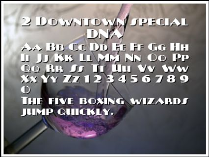 2 Downtown special DNA Font Preview