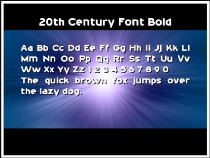 20th Century Font Bold Font Preview