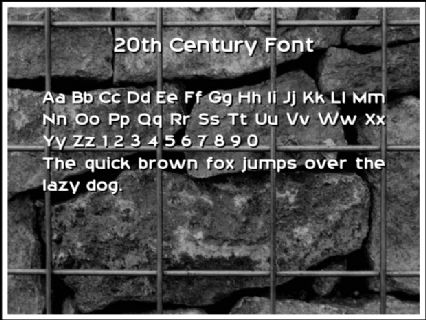 20th Century Font Font Preview