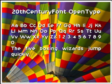 20thCenturyFont OpenType Font Preview
