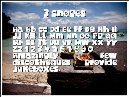 3 Snopes Font Preview