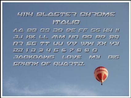 4114 Blaster Chrome Italic Font Preview