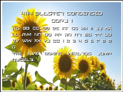 4114 Blaster Condensed copy 1 Font Preview