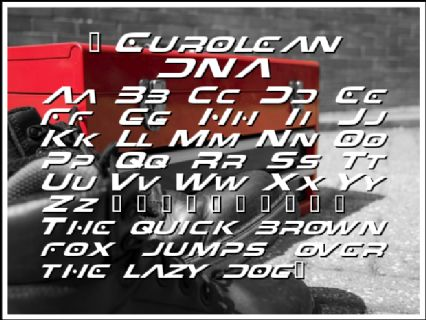5 Eurolean DNA Font Preview