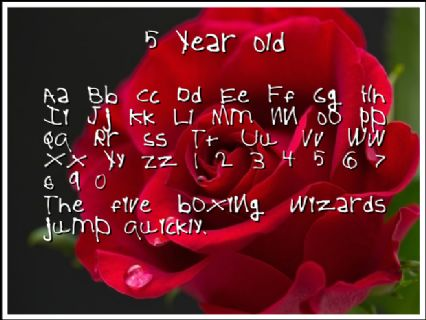 5 Year Old Font Preview