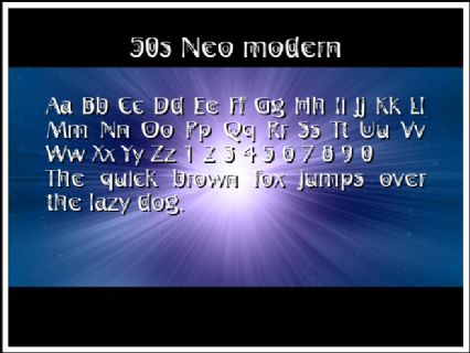 50s Neo modern Font Preview