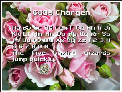 6809 Chargen Font Preview