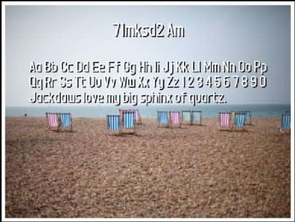 71mksd2 Am Font Preview