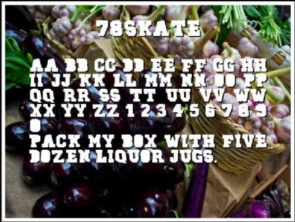 78SKATE Font Preview