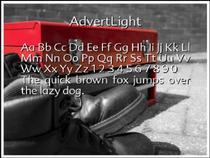 AdvertLight Font Preview