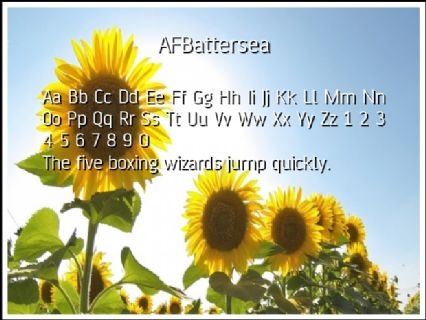 AFBattersea Font Preview