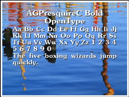 AGPresquireC Bold OpenType Font Preview