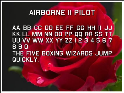 Airborne II Pilot Font Preview