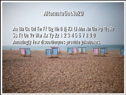AlternateGotNo2D Font Preview