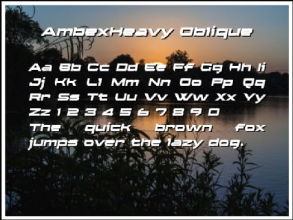 AmbexHeavy Oblique Font Preview