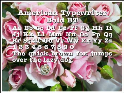 American Typewriter Bold BT Font Preview
