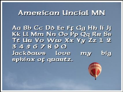 American Uncial MN Font Preview