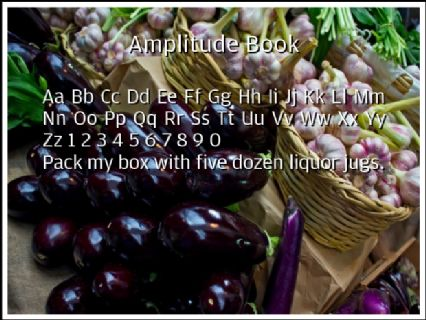 Amplitude Book Font Preview