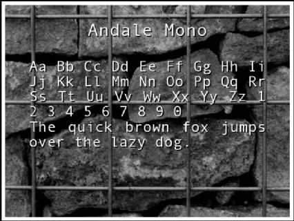 Andale Mono Font Preview