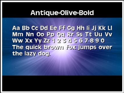 Antique-Olive-Bold Font Preview