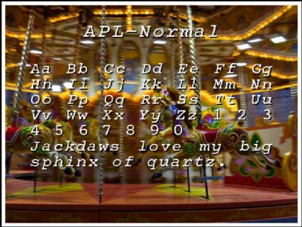APL-Normal Font Preview