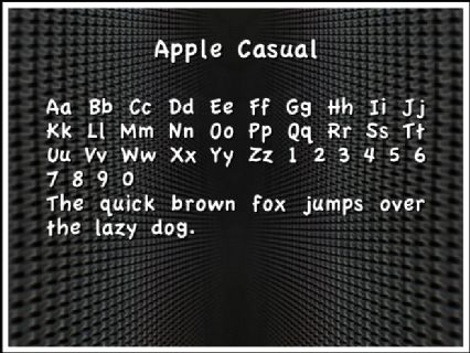Apple Casual Font Preview