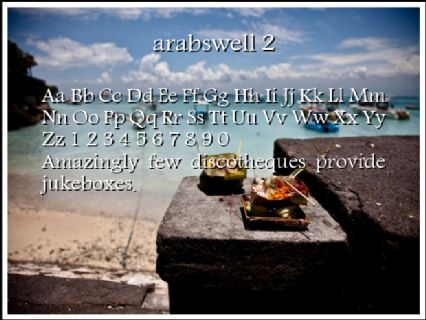 arabswell 2 Font Preview