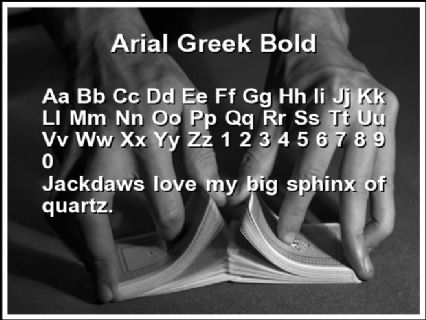 Arial Greek Bold Font Preview