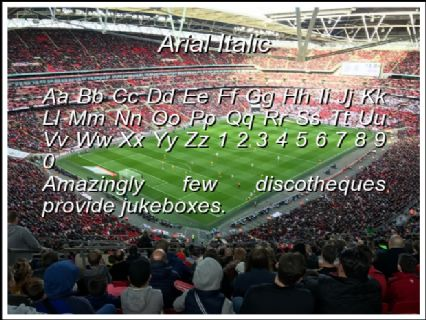 Arial Italic Font Preview