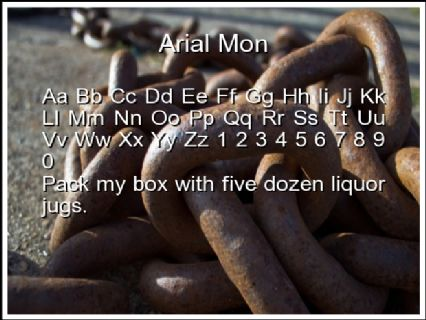 Arial Mon Font Preview