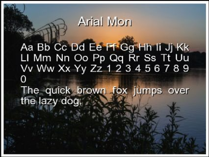 Arial Mon Font