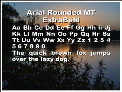 Arial Rounded MT ExtraBold Font Preview
