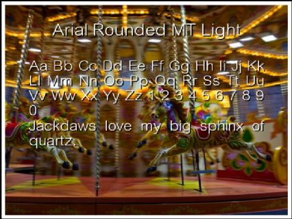 Arial Rounded MT Light Font Preview