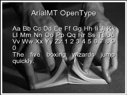 ArialMT OpenType Font Preview