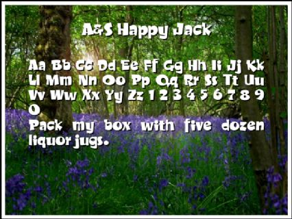 A&S Happy Jack Font Preview