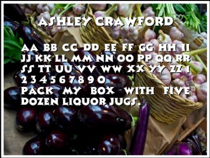 Ashley Crawford Font Preview