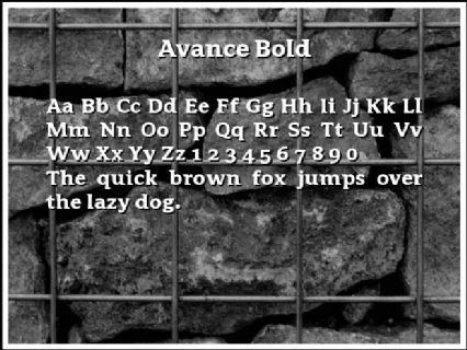 Avance Bold Font Preview