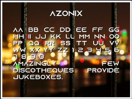 Azonix Font Preview