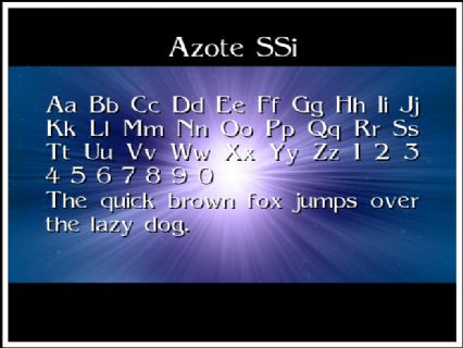 Azote SSi Font Preview