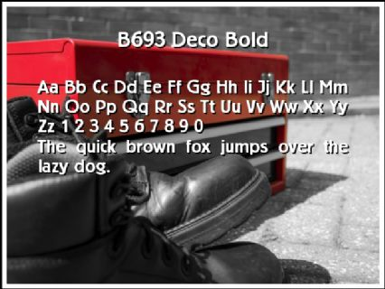 B693 Deco Bold Font Preview