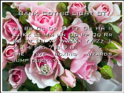 Bank Gothic Light BT Font Preview