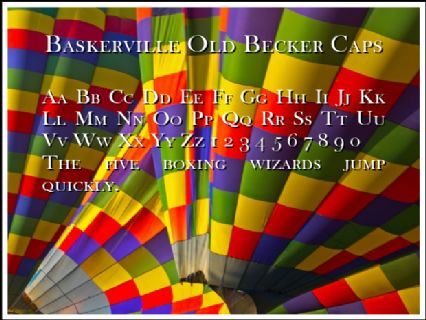 Baskerville Old Becker Caps Font Preview