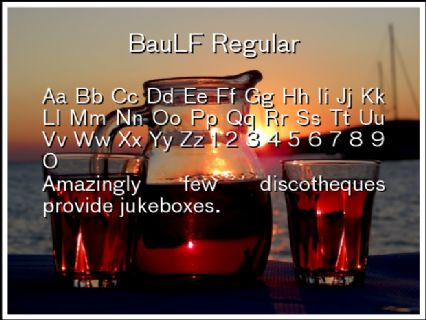 BauLF Regular Font Preview