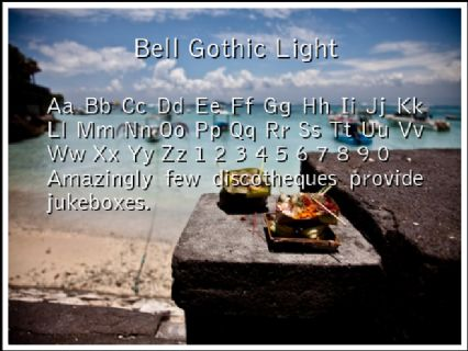 Bell Gothic Light Font Preview