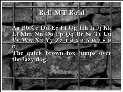 Bell MT Bold Font Preview
