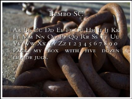 Bembo SC Font Preview